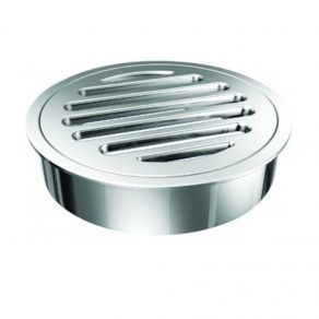 FLOOR WASTE ROUND 80MM OUTLET