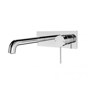 In Wall Mixer & Curved Spout 230mm