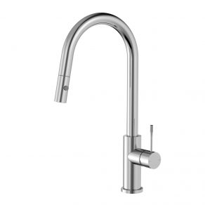 KITCHEN MIXER  KNURLED LEVER W/PULLOUT