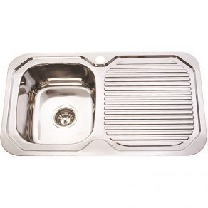 SINGLE SINK & DRAINER 780mm