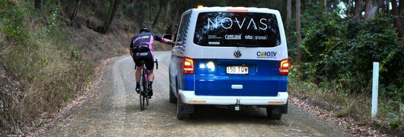 Cclc Ride 2018 — Rider Leaning On Novas Van